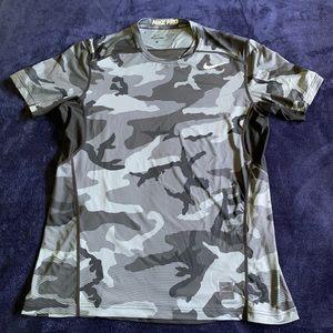 Nike Pro Combat Grey Camo Compression DriFit Shirt
